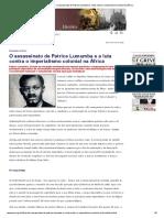 Causa Operária - O Assassinato de Patrice Lumumba e a Luta Contra o Imperialismo Colonial Na África