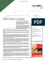 Patrice Lumumba - 17 de Janeiro