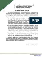 COMUNICADO PNP N° 37 - 2016