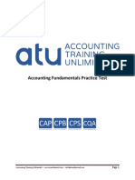 Accounting Fundamentals Practice Test