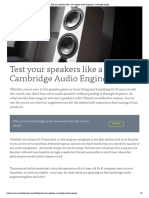 Test Your Speakers Like a Cambridge Audio Engineer _ Cambridge Audio