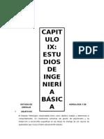 Capitulo Ix Estudios de Ingenieria Básica