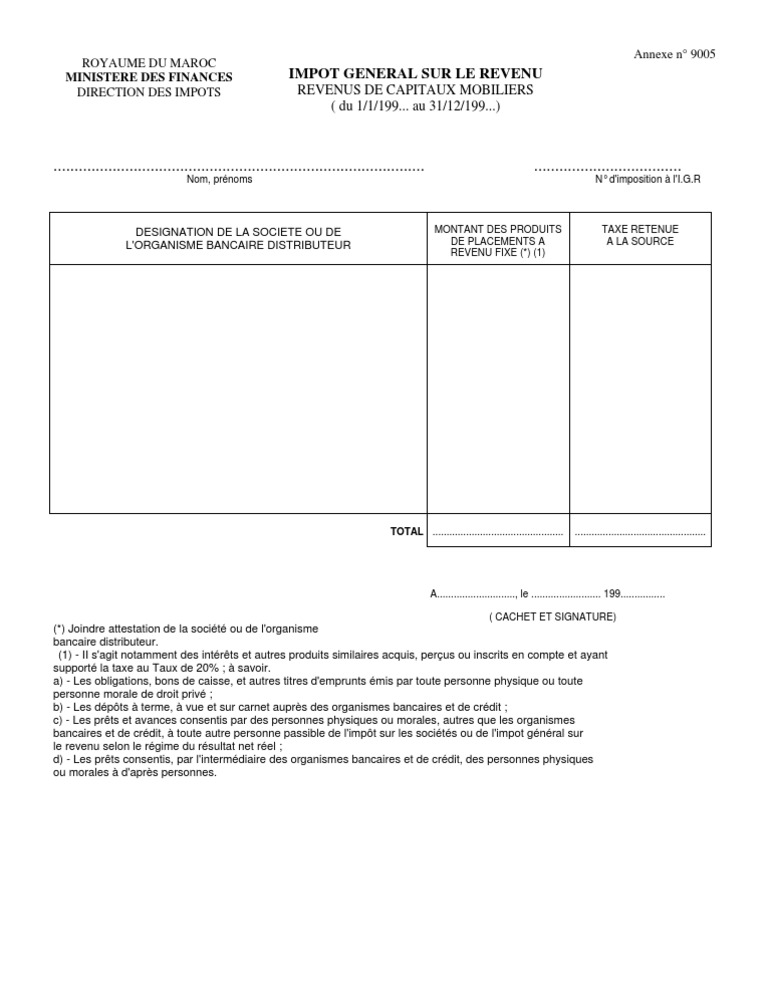12 A9005 Capit Mobiliers Credit Taxes