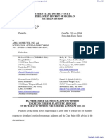 Eight Mile Style, LLC et al v. Apple Computer, Incorporated - Document No. 42