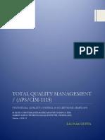 Total Quality Management - CIM 1115