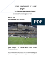 Energy System Requirements of Soccer Player