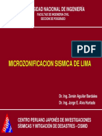Microzonificacion Sismica de Lima