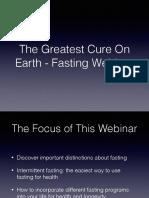 GreatestCure-FastingWebinarSlides
