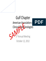 Gulf Chapter American Association of Clinical Endocrinologists