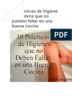 10 Prácticas de Higiene Alimentaria Que No Pueden Faltar en Una Buena Cocina