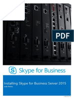 Installing Skype for Business Server 2015 Step by Step eBook