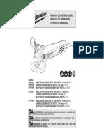 Manual Usuario Amoladora Milwakee