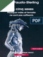 Les Cinq Sexes - Anne Fausto-Sterling