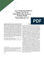 The Art of Motivating Behavior Change