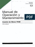 793D Manual Operacion y Mantenimiento