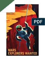 Mars Explorers Wanted NASA Poster