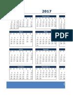 calendário - 2017