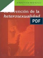 Jonathan Ned Katz - La invencion de la heterosexualidad.pdf