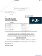 Eight Mile Style, LLC et al v. Apple Computer, Incorporated - Document No. 44