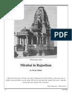 Mirabai in Rajasthan