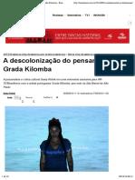 A descolonização do pensamento na obra de Grada Kilomba - Brasileiros