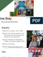 pop art artist presentation
