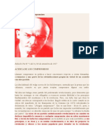 Lenin Acerca de Los Compromisos