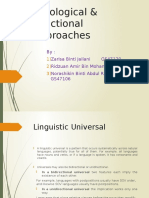 Typological and Functional Approaches