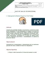 Subprogramas de Seguridad y Salud en El Trabajo 1