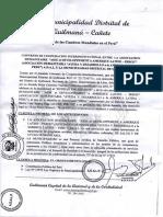 Convenio Entre Eduardo Florian y MD Quilmana