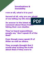 Stupid Rationalizations & Plausable Deniabilty