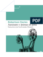 Asesinato y Animas en Pena - Robertson Davies