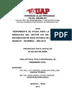 Tesis Uap Modelacion Hidraulica Sector II-b
