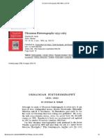Ukrainian Historiography 1953-1963 on JSTOR