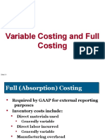 Full and Variable Costing