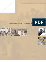 Agriculture and Pro-Poor Growth