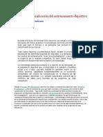 Estructura y Planificación Del Entrenamiento Deportivo