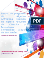 Banco Aritmetica Algebra FCYT UMSS
