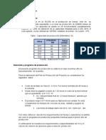 Programa de Producción y Distribución de Planta