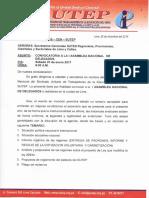 DIRECTIVA N° 006 - 2016-CEN-SUTEP-CONVOCATORIA A LA ASMABLEA NACIONAL DEL DÍA 07 DE ENERO 2017
