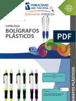 CATALOGO Boligrafos Plasticos