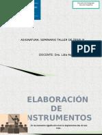 Elaboración de Instrumentos