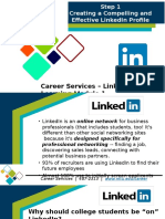 Linkedin Presentation Part 1 Creating a Compelling and Effective Linkedin Profile March 2016