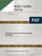 Aplikasi Fisika Statistik Dalam Bidang Ekonomi