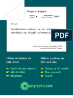 Anastomosis Manual vs Mecanica