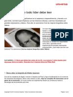 5 Biografias Lider Debe Leer