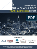 Denver Metro Apartment Vacancy & Rent, 2014, 4th Quarter, Colorado Division of Housing