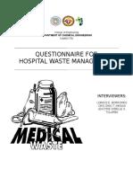 Hospital Waste Management (Questionnaire)
