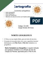 Cartografia - Orientação de documentos cartográficos