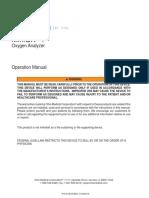 474618 MiniOX 1 Oxygen Analyzer Manual